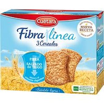 Cuétara Galleta fibra 3 cereales Caja 500 g