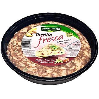Fuentetaja Tortilla fresca con jamón ibérico y guisantes Envase 600 g