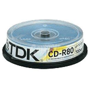 TDK Bobina de 10 cdr 80 52 x Unidad