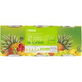 Eroski Frutas en Almibar Pack 3x125 g