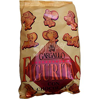 Gargallo Figuritas de galleta con chocolate Bolsa 180 g