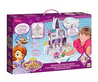 Disney Maqueta del castillo de la Princesa Sofía para decorar, incluye 6 lápices de colores, figura de Sofía y pegatinas 6 l