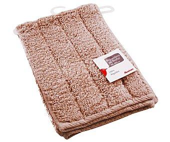 AUCHAN Alfombra de rizo 100% algdón, 1200 g/m², color marrón, 40x60 centímetros 1 Unidad