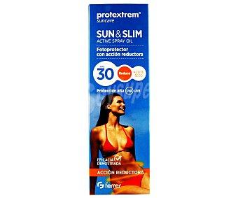 SUN & SLIM Aceite solar con con factor de protección 30 y acción reductora 200 ml