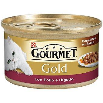 Gourmet Purina Delicias de hígado y pollo para gato Gold Lata 85 g