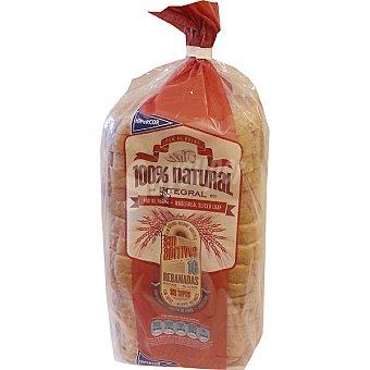 Hipercor pan de molde integral 100% natural con corteza 16 rebanadas  bolsa 460 g