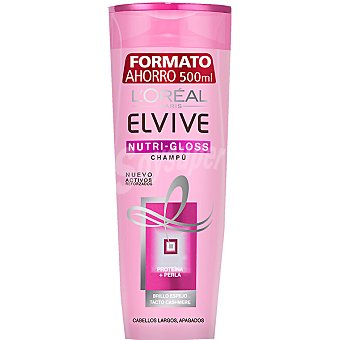 Elvive L'Oréal Paris Champú Nutri-Gloss para cabellos largos y apagados Bote de 500 ml