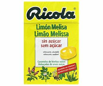 Ricola Caramelos sin azúcar con sabor a limón y melisa , refrescante y saludable, 50 Gramos