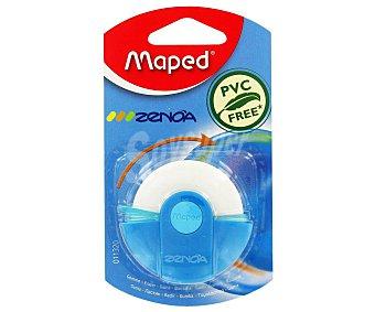 Maped Goma de borrar con estuche de colores, modelo Zenoa 1 unidad