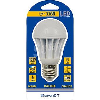 SEVENON 11 W (75 W) lampara LED esferica luz calida casquillo E27