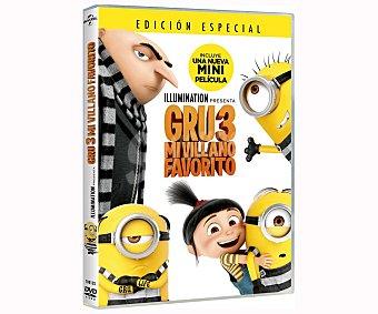universal Gru 3: Mi villano favorito. 2017. Película en dvd. Género: animación. Edad: + 6 años