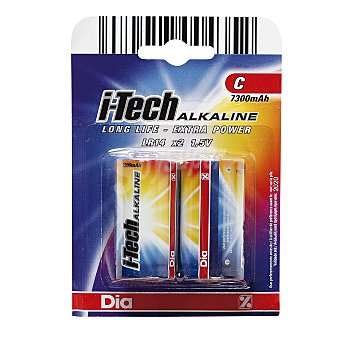 DIA Pila alcalina C (LR14) blister 2 unidades
