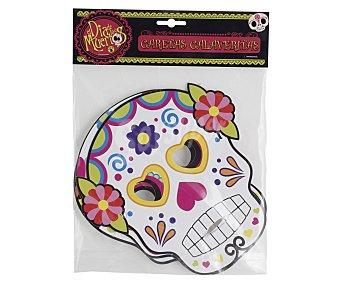 DÍA DE LOS MUERTOS Pack Halloween, 3 caretas de calaveras mexicanas, Caretas Calaveritas