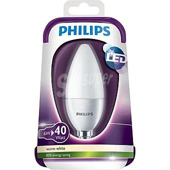 PHILIPS Vela Opaca 6 W (40 W) lámpara LED blanco cálido casquillo E14 (fino)