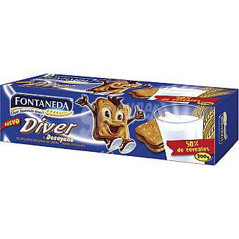 Fontaneda Galletas rellenas de chocolate Diver Paquete 300 g