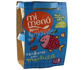 Dulcesol Tarrito de verdura con merluza 2 unidades 200 gramos