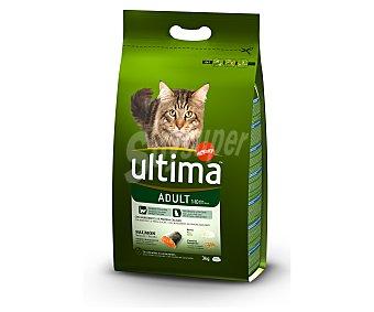 Ultima Affinity Camida seca para gato, con salmón y arroz 3 Kilogramos