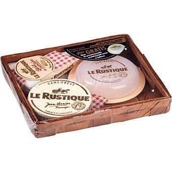 Le rustique Lote 2 quesos camembert + brie con regalo de quesera Le Rus envase 450 g