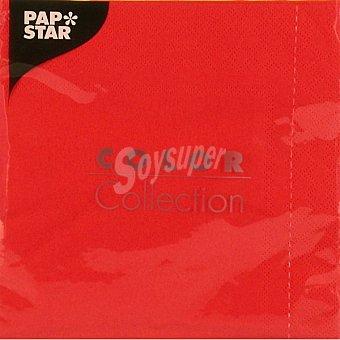 Papstar Servilletas color rojo 33x33 Paquete 20 unidades