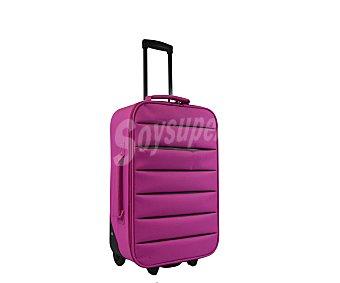 Doudone Maleta de 2 ruedas, con estructura flexible de polyester de color rosa, medida de 66 centímetros 66cm