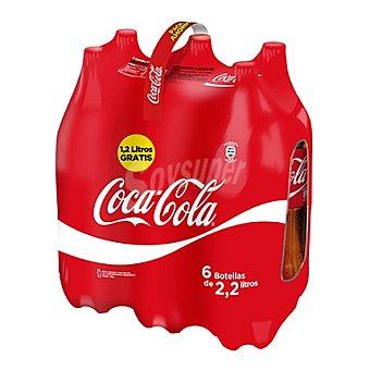 Coca-Cola Refresco de cola regular Pack 6x2,20 l