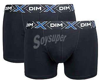 DIM Calzoncillo Pack de 2 calzoncillos bóxer de algodón para hombre color negro, talla M x-temp