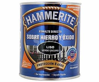 HAMMERITE Esmalte metálico para uso exterior antióxido y de color verde brillante 0,75 litros