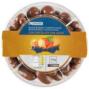 Eroski Delicias de chocolate con leche Caja 330 g
