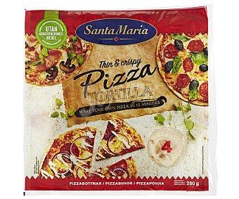 Santa Maria Base de pizza mejicana 280 gramos