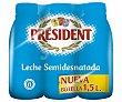 Leche semidesnatada Pack 6 botellas x 1.5 l  President
