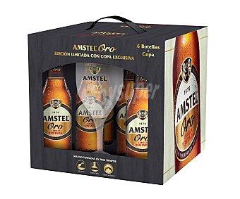 Amstel Cerveza tostada ORO 6 uds. x 33 cl