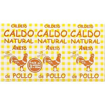 Aneto Caldo de pollo pack 3 envase 200 g Pack 3 envase 200 g