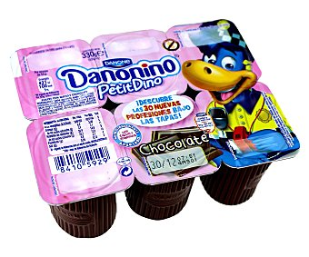 Danonino Danone Petit de chocolate 6 unidades de 55 g