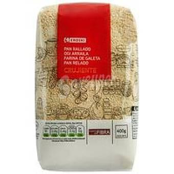 Eroski Pan rallado crujiente Paquete 400 g