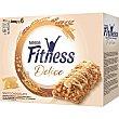 Barritas de cereales con chocolate blanco 22,5 gr x 6 ud Fitness Nestlé