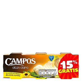 Campos Atún claro en aceite de girasol Campos Pack de 6 unidades de 52 g