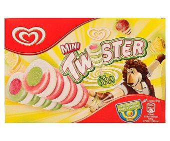 TWISTER Mini polos con sabor a frutas 8 unidades de 50 ml