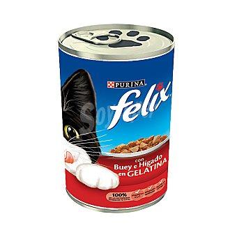 Purina Felix Comida para gatos con Hígado y Buey 390 g