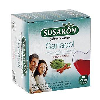 Susaron Infusión Sanacol con té verde y alcachofa sabor canela Caja 10 u