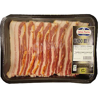 Julian martin Panceta adobada en lonchas de cerdo iberico peso aproximado bandeja 250 g Bandeja 250 g