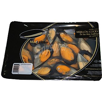 MARCELINO Mejillon cocido con media concha bandeja 500 g