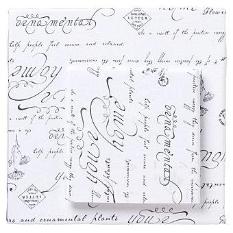 CASACTUAL Home Pluma funda nórdica con estampado de textos en color gris para cama 135 cm 1 unidad