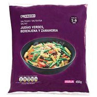 Eroski Salteado de judía-berenjena-zanahoria Bolsa 450 g