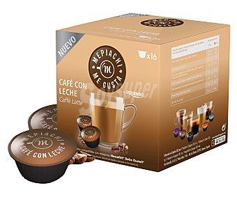 Mepiachi Café con leche en monodosis compatibles con Dolce Gusto mepiach 16 unidades