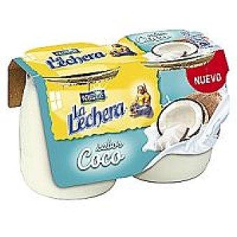 La Lechera Nestlé Yogur de coco enriquecido Pack 2x125 g