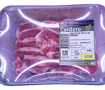 Martinez Loriente Cordero chuleta palo ó riñonada fresco Bandeja 550 g peso aprox. (8-10 unidades)