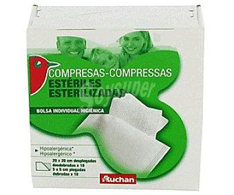 Auchan Compresas Gasa 20x20 Cm 10u