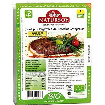 Natursoy Escalopas vegetales de cereales integrales queso comté y emental Envase 180 g