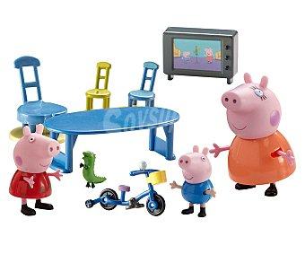 Peppa Pig Playset escenario de juego Familia Peppa Pig, incluye personajes y accesorios, Bandai 1 unidad
