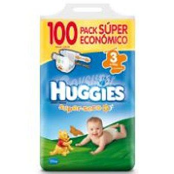 Huggies Pañal 4-9 kg Talla 3 Paquete 100 unid